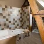 Salle d'eau chambre marron